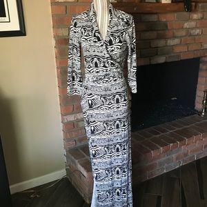Diane von Furstenberg Abigail Wrap Maxi Dress 10